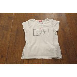 【セール/10%OFF】JENNI ジェニィ BACKフリルLIVE-LOVETシャツ 子供服 メール便送料無料 18'春夏新作|tanpopokids