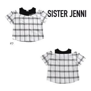 【セール/10%OFF】20'夏新作 JENNI ジェニィ チェックシャツレイヤード風半そでTシャツ 子供服 ジュニアJr メール便送料無料|tanpopokids