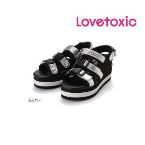 【セール/30%OFF】20'夏新作 Lovetoxic ラブトキシック バックルベルト厚底サンダル 子供用 ジュニアJr メール便不可|tanpopokids