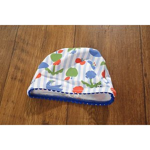 PetitJam プチジャム リンゴとスワンのストライプスイムキャップ 子供服 メール便送料無料対象外(160円) 18'春夏新作|tanpopokids