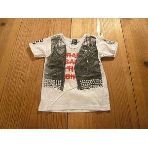 【メール便送料無料】【セール3,024円⇒】RAD CUSTOM(ラッドカスタム) 革ベストだまし絵Tシャツ|tanpopokids