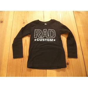 【メール便送料無料】【セール4,212円⇒】RAD CUSTOM(ラッドカスタム) RADブラックストーンロゴロンT|tanpopokids