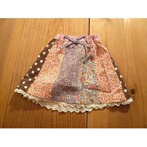 【セール3,888円⇒】RAGMART(ラグマート) 3花柄ドット切替スカート(90cm)|tanpopokids