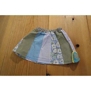 【メール便送料無料】【セール4,644円⇒】RAGMART(ラグマート) ギンガムドットフラワー切替スカート(100〜110cm)|tanpopokids