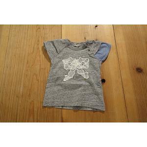 【メール便送料無料】【セール3,888円⇒】RAGMART(ラグマート) レースリボンそで切替Tシャツ(100〜110cm)|tanpopokids