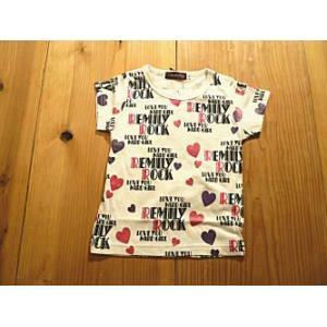【メール便送料無料】【セール3,024円⇒】Remily(レミリー) Remilyロゴハート総柄ptTシャツ(100〜130cm)|tanpopokids