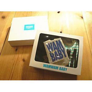 【セール5400円⇒】WAMbaby(ワムベビー) WAM大ロゴボーダー柄ベビーギフト3点SET|tanpopokids