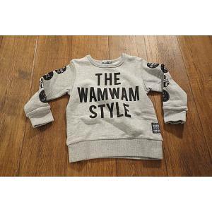 【セール/30%OFF】WAMWAM ワムワム THE-WAMWAM-STYLE袖ワッペンptトレーナー 子供服 メール便送料無料 17'秋冬新作|tanpopokids