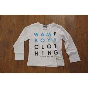 WAMWAM ワムワム CLOTHINGロゴロンT 長袖Tシャツ 子供服 メール便送料無料 18'春夏新作|tanpopokids