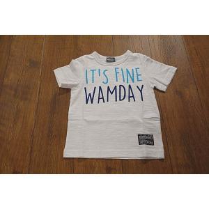 WAMWAM ワムワム IT'S-FINE-WAMDAYロゴTシャツ 子供服 メール便送料無料 18'春夏新作|tanpopokids