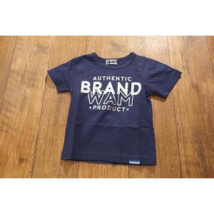 【セール/30%OFF】WAMWAM ワムワム BRAND-WAM箔ロゴTシャツ 子供服 メール便送料無料 18'春夏新作|tanpopokids