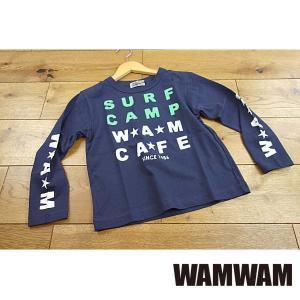 【セール/10%OFF】19'春新作 WAMWAM ワムワム SURFCAMP-CAFEロゴロンT 長袖Tシャツ 子供服 メール便送料無料|tanpopokids