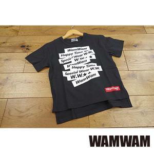 【セール/10%OFF】19'春新作 WAMWAM ワムワム WamWamテープロゴTシャツ 子供服 メール便送料無料|tanpopokids