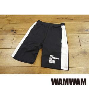 【セール/30%OFF】19'夏新作 WAMWAM ワムワム CLOTHING-OF-WAMサイドラインハーフパンツ 子供服 メール便送料無料|tanpopokids
