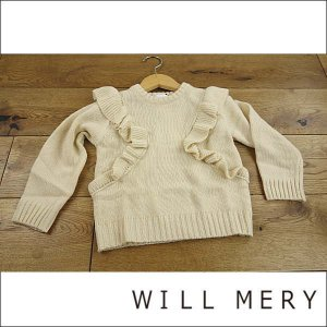 18'秋冬新作 WILLMERY ウィルメリー 肩からフリルニットセーター 子供服 メール便不可|tanpopokids