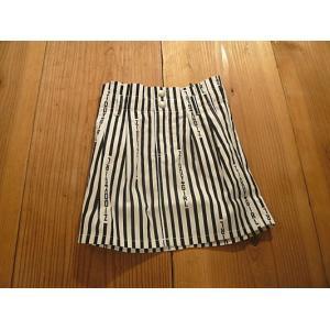 【セール4,752円⇒】ZIDDY(ジディー) 縦ロゴストライプハイウエストスカート|tanpopokids