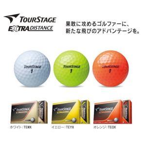 新品 2014年モデル TOURSTAGE ツアーステージ EXTRA DISTANCE 1ダース(12個入) 日本正規品 ゴルフボール