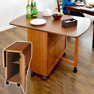 キッチンテーブル 食卓テーブル ダイニング 食卓テーブル キッチン バタフライテーブル キャスター付 北欧|tansu
