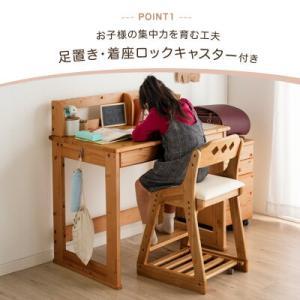 キッズチェア 学習チェア チェア クッション付き 4ステップ ハイチェア 木製 高さ調節 組立品 おしゃれ キッズ 子供 学習イス 4ステップチェア|tansu|03