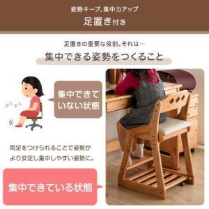 キッズチェア 学習チェア チェア クッション付き 4ステップ ハイチェア 木製 高さ調節 組立品 おしゃれ キッズ 子供 学習イス 4ステップチェア|tansu|04