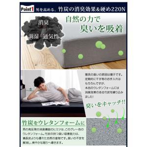 マットレス ダブル 高反発マットレス 3つ折り 10cm 折りたたみ ベッドマット 225N ウレタンマットレス 高反発 ダブルマットレス 消臭|tansu|04