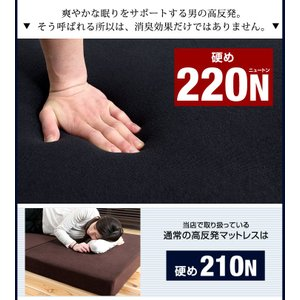 マットレス ダブル 高反発マットレス 3つ折り 10cm 折りたたみ ベッドマット 225N ウレタンマットレス 高反発 ダブルマットレス 消臭|tansu|05