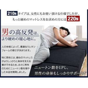 マットレス ダブル 高反発マットレス 3つ折り 10cm 折りたたみ ベッドマット 225N ウレタンマットレス 高反発 ダブルマットレス 消臭|tansu|06