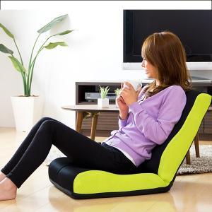 座椅子 座いす 座イス 低反発 リクライニング 姿勢 メッシュ コンパクト ハイバック 一人掛けソファの写真
