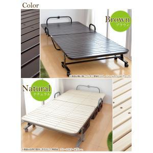 折りたたみベッド すのこベッド 折り畳みベッド...の詳細画像1