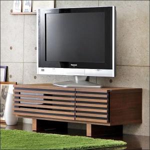 テレビ台 ローボード TV台 テレビボード AVボード ロータイプ 完成品 ウォールナット 天然木 110 ブラウン 32型 木製 32インチ 32 収納 家具|tansu