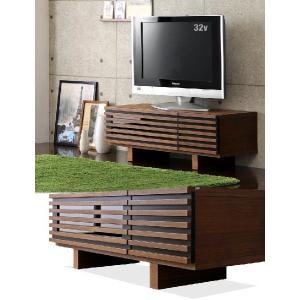 テレビ台 ローボード TV台 テレビボード AVボード ロータイプ 完成品 ウォールナット 天然木 110 ブラウン 32型 木製 32インチ 32 収納 家具|tansu|02