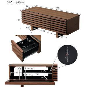 テレビ台 ローボード TV台 テレビボード AVボード ロータイプ 完成品 ウォールナット 天然木 110 ブラウン 32型 木製 32インチ 32 収納 家具|tansu|05