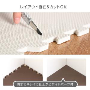 ジョイントマット 大判 プレイマット 60cm 32枚セット 6畳 厚手 大判ジョイントマット サイドパーツ付 床暖房対応 赤ちゃん 防音対策 フロアマット|tansu|08