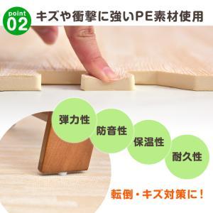 ジョイントマット 大判 プレイマット 60cm 6畳 32枚セット 厚手 木目調ジョイントマット  防音対策 床暖房対応 サイドパーツ付き フロアマット|tansu|06