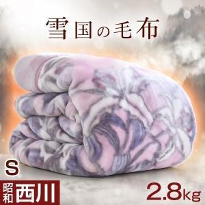 西川 毛布 2枚合わせ 衿付き 厚手 2.8kg シングル 洗えるの写真
