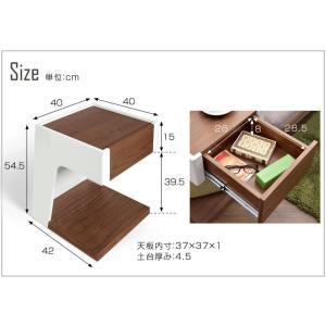 テーブル サイドテーブル サイド テーブル ソファ ベッド 木 サイドチェスト ベッドサイドチェスト ベッドサイドテーブル 北欧 スリム 木製 正方形 おしゃれ tansu 02