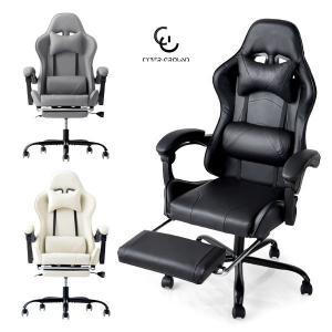 ゲーミングチェア リクライニング フットレスト バケットシート ハイバック 椅子 オフィスチェア ワークチェア パソコンチェア チェア CYBER GROUND