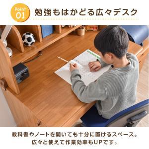 学習机  勉強机 学習デスク 4点セット ライト セット パソコンデスク 勉強デスク 上棚 ワゴン カントリー|tansu|07