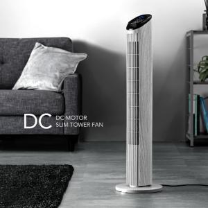 扇風機 dcモーター タワーファン 首振り 省エネ リビング...