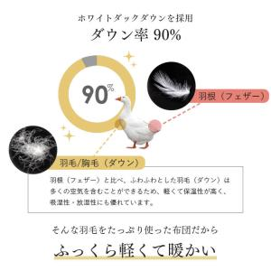 羽毛布団 シングル 羽毛ふとん 掛け布団 日本製 ダックダウン90% 増量1.2kg 7年保証 350dp以上 羽毛 CILシルバーラベル|tansu|05