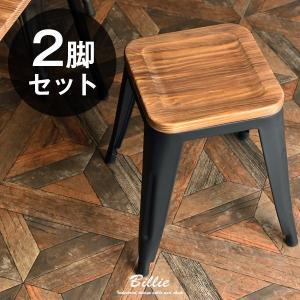 スツール 完成品 ブルックリンスタイル スタッキング アイアン 天然木 北欧 ダイニングチェア チェアー 椅子 いす イス 玄関 スチールチェア おしゃれの写真