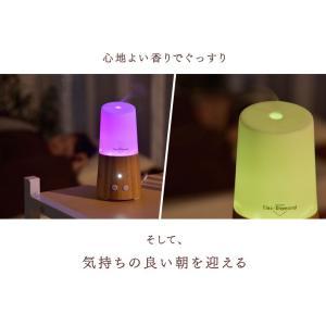 アロマディフューザー 超音波 木目調 USB おしゃれ 空焚き防止 LED 卓上 オフィス ミニ 加湿器 小型 アロマ加湿器|tansu|03