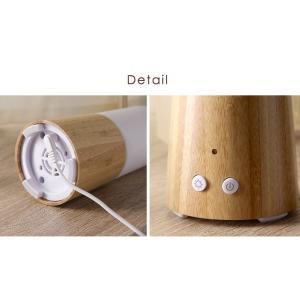 アロマディフューザー 超音波 木目調 USB おしゃれ 空焚き防止 LED 卓上 オフィス ミニ 加湿器 小型 アロマ加湿器|tansu|08