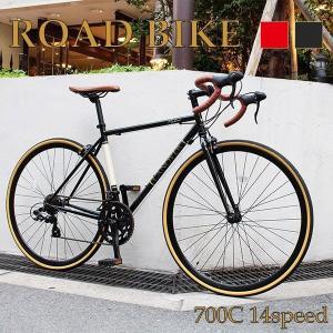 自転車 CANOVER クロモリ シマノ社製 ロードレーサー デュアルコントロールレバー 14段変速...