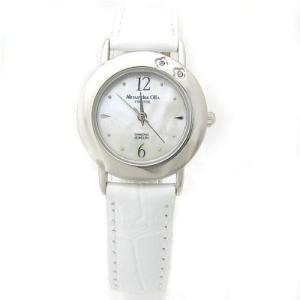 ALESSANDRA OLLA アレサンドラオーラ AO-6900-WH 「女性用腕時計 ダイヤ2石 AO-6900 WH レディース」|tantan