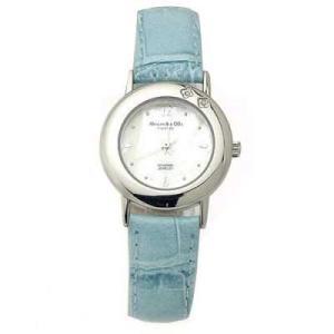 ALESSANDRA OLLA アレサンドラオーラ AO-6900-BL 女性用腕時計 ダイヤ2石 AO-6900 BL レディース|tantan