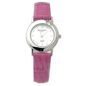 ALESSANDRA OLLA アレサンドラオーラ AO-6900-RPK 「女性用腕時計 ダイヤ2石 AO-6900 RPK レディース」|tantan