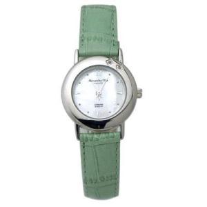 ALESSANDRA OLLA アレサンドラオーラ AO-6900-GR 女性用腕時計 ダイヤ2石 AO-6900 GR レディース|tantan