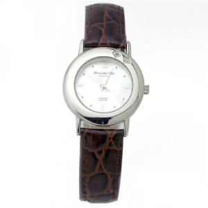 ALESSANDRA OLLA アレサンドラオーラ AO-6900-BR 女性用腕時計 ダイヤ2石 AO-6900 BR レディース|tantan