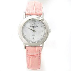 ALESSANDRA OLLA アレサンドラオーラ AO-6900-PK 「女性用腕時計 ダイヤ2石 AO-6900 PK レディース」|tantan